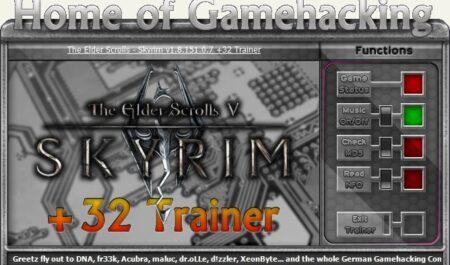 The Elder Scrolls 5 – Skyrim: Trainer (+31) [1.9.29.0.8 ~ 1.9.32.0.8]